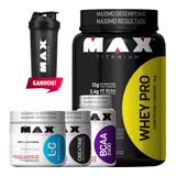 Combo Whey Proten + Bcaa + Creatina + Glutamina - Max