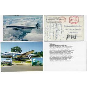 1957/2003 2x Cartão Postal Aviões Lockheed Constellation