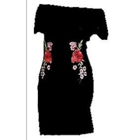 Vestido De Fiesta Talla S En Terciopelo Negro