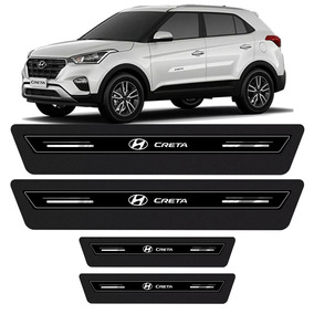 Soleira De Porta Platinum Hyundai Creta 2017 2018 Preto