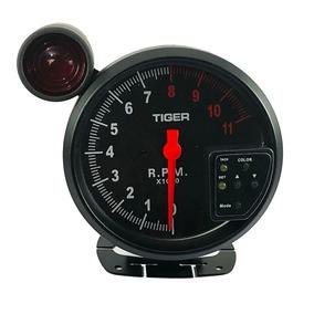 Velocímetro Conta Giro Rpm Led 7 Cores Monometro Turbo Shift