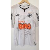 Camisa Autografada Do Santos Fc no Mercado Livre Brasil 7eb13243733ff
