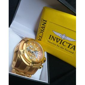 Relógio Invicta Zeus Skeleton Gold Frete Grátis Com Caixa
