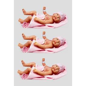 Kit 3 Bebês Anjo Boneca Menina Para Reborn