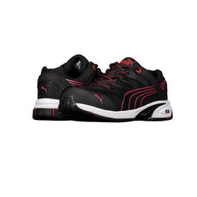 Zapato De Seguridad Ligero Puma P544 Para Hombre Negro/rojo