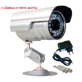 3 Câmera Segurança Infra Vermelho 36 Leds 30m Frete Grátis