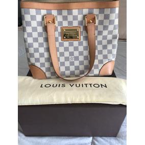 3a1e11570 Bolsa Eva Clutch Canvas Damier Azur . .leil O - Bolsas no Mercado ...