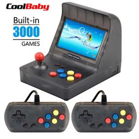 Mini Fliperama Retro Arcade Com 3000 Jogos Cps Nes Snes Gbc+