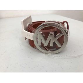 Cinturón Michael Kors Café Evilla Mk Mediano