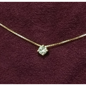 2b4094287cd49 Ponto De Luz Com Diamante De 15 Pontos Corrente De Ouro 750! - Joias ...
