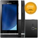 Smartphone Sony Xperia U St25a 8gb Single 3g Preto Vitrine 1