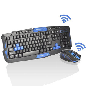 Kit Teclado E Mouse Gamer Sem Fio Wireless 2.4ghz 3200dpi