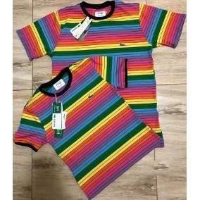 Camisa Lacoste Arco Iris - Calçados, Roupas e Bolsas no Mercado ... 1e66893632