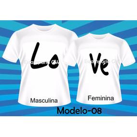 Camiseta Personalizada Casal Noivos - Camisetas para Masculino em ... e6e815071255f