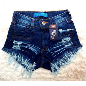 Kit 4 Shorts Jeans Cintura Alta Hot Pant