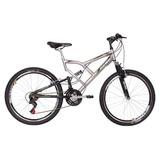 Bicicleta Mormaii Aro 26 Quadro 19 Full Suspension Aço Big