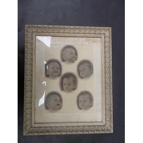 Moldura Antiga Com Foto De Nene. Anos 50 ,35x31 Cm
