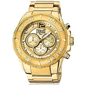 9c8d116291e Relógio Everlast Masculino Dourado Analógico - E631