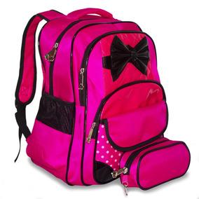 Mochila Escolar Feminina Rosa Roxa Infantil