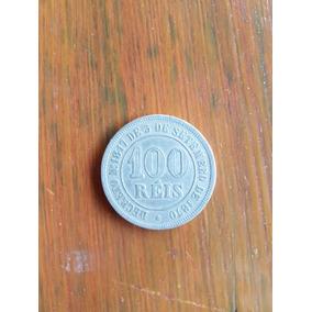 Moeda 100 Reis 1877. Rara