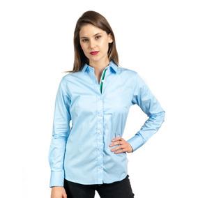 Camisa Azul Lisa