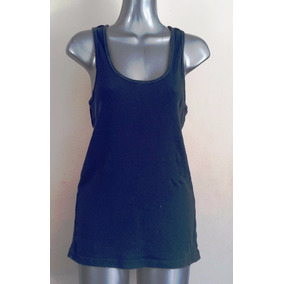 Tank Top Playera Sin Manga Larga Rayada Azul Marino Old Navy