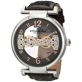 Reloj Mecánico Cuero Genuino Cocodrilo 667.02 Stührling