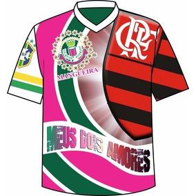 6b48a105ea Camisa Metade Mangueira Metade Flamengo - Camisetas no Mercado Livre ...