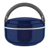 Marmita Para Microondas Euro Lunch Box 700ml Azul Euro
