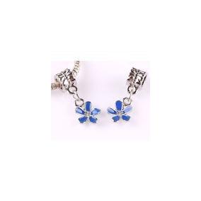 6fe78713bc2 Berloque Esmaltado Flor Azul Para Pulseira Pandora Ou Vivara - Joias ...