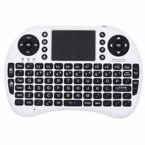 Mini Teclado Wireless Wifi Touch Mouse Branco Pronta Entrega