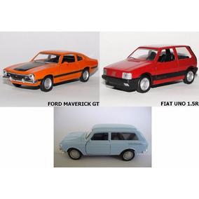 3 Miniatura Clássicos Nacionais Uno 1.5r+vw Variant+maverick