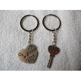 Coleção Chaveiros - Coraçao + Chave (par) Casal! Namorados!