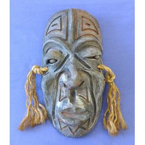 Mascara Africana Em Barro Terracota