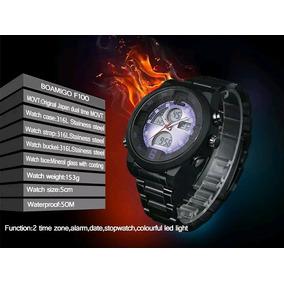 Relógio Masculino Original Boamigo Digital Leds Preto Barato