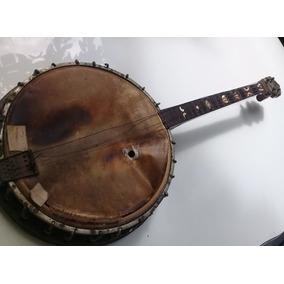 Antigo Banjo Drgm Alemão 79cm 1800-1952