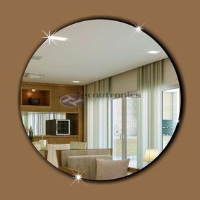 Espelho Decorativo Acrílico Redondo 50 X 50 Cm Sala Quarto