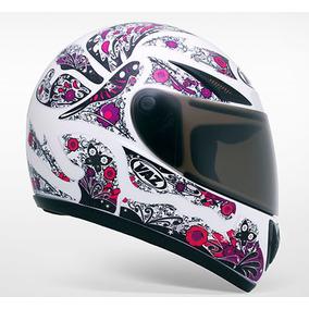 Capacete Moto Vaz V10 Femme Feminino Branco E Rosa