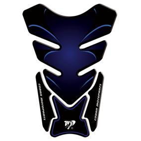 Protetor De Tanque Adesivo Tankpad Vampiro Azul Moto