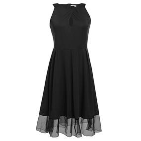 Vestido Talla Grande Antiguo Elegante S/manga C/plisado Tul