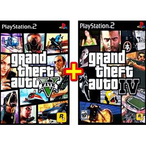 Gta 4 + Gta 5 Grand Theft Auto Iv + V Patch Ps2 Em Português