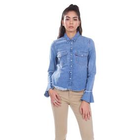 Camisa Jeans Levis Feminino Celia Ruffle Média 196a4c481db