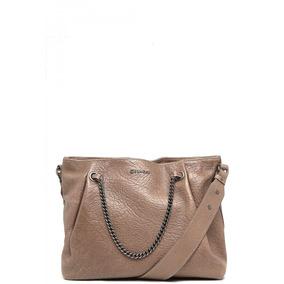 156aba3b2 Bolsa Feminina Dumond Couro Texturizada Cinza 485057