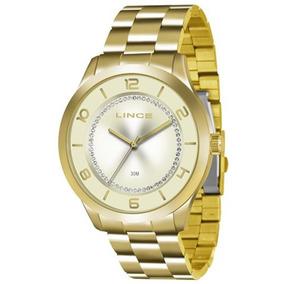 Relógio Lince Dourado Com Visor Champagne Cristais Lrg4073l ... 2f6849a49b
