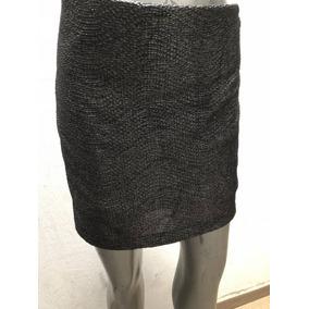Minifalda Gris Metálico