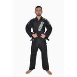Kimono Jiu-jitsu Trançado Especial Budô Brasil Preto Adulto