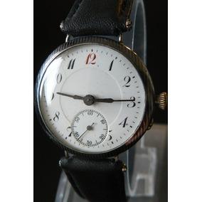 Reloj Militar Plata Solido Aleman De 1934 A Cuerda 15 Rubis