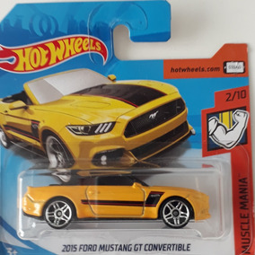 Carrinhos Hot Wheels Ford Mustang Gt Convertible 1/64 2018