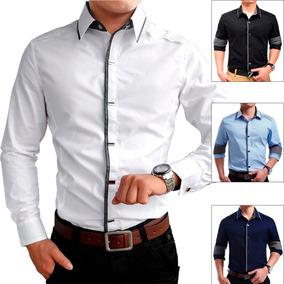 Camisa Social Slim Fit Premium Varias Cores Pronta Entrega