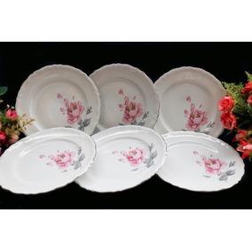 Porcelanas Chá De Anis - Jogo Pratos P/ Bolo Epiag